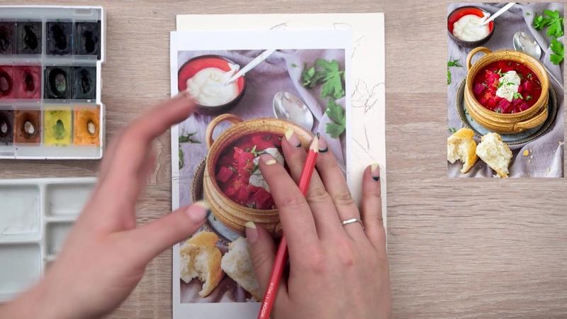 Food скетчинг - урок 10