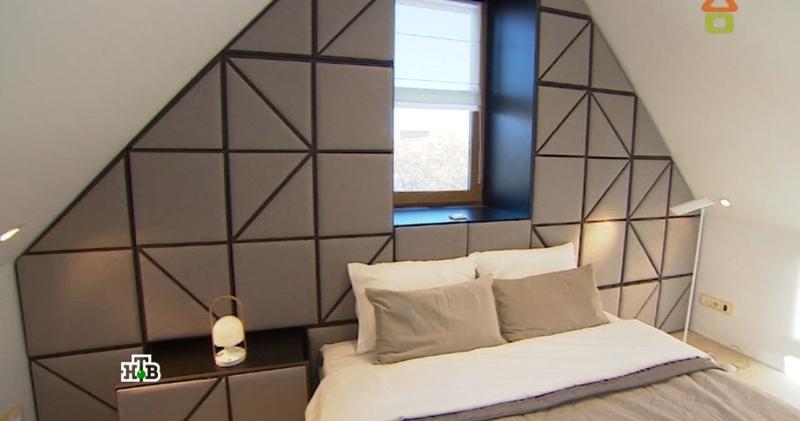 Дачный ответ 12.02.2017 | Спальня в мансарде с раздельным санузлом и 3D-стеной